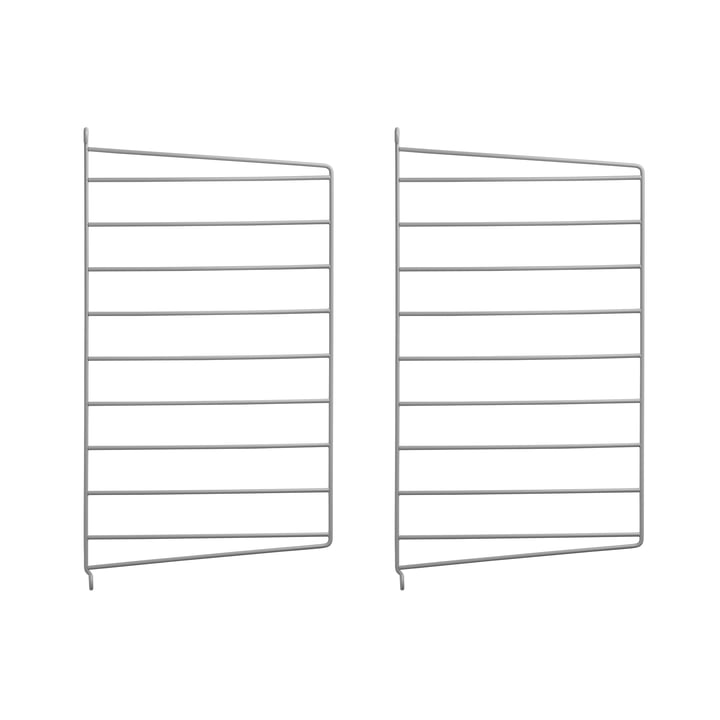 Wall Panel for String System 50 x 30 cm by String in Gray (Set of 2)
