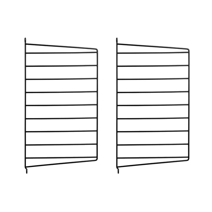 Wall Panel for String System 50 x 30 cm by String in Black (Set of 2)