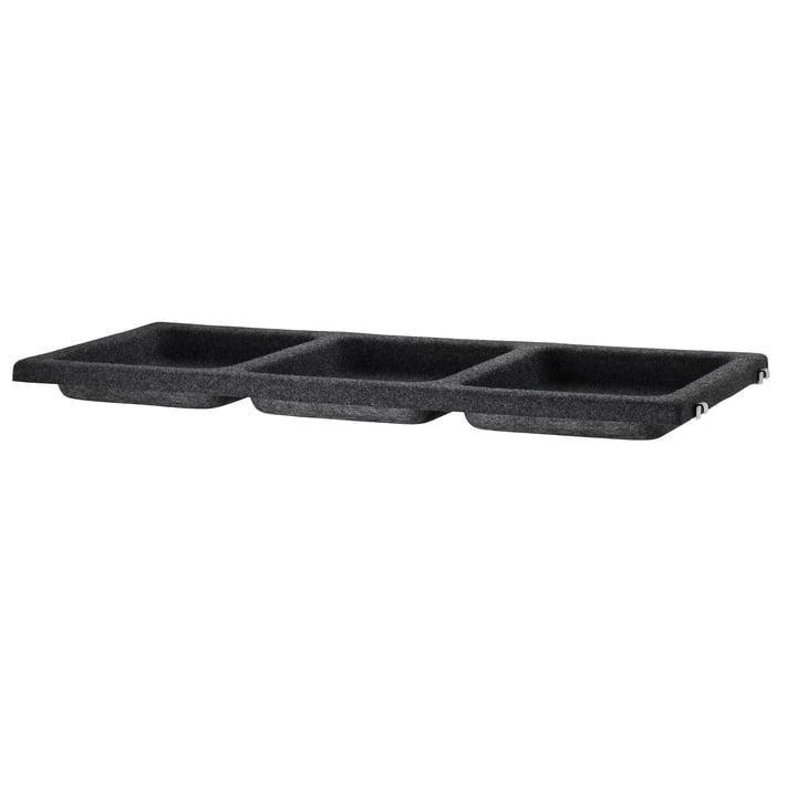 The storage tray out of felt by Hay in anthracite.