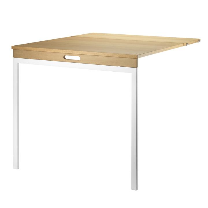 Folding Table by String in Oak / White