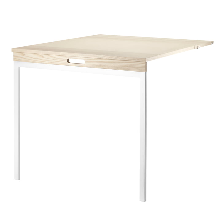 Folding Table by String in Ash / White