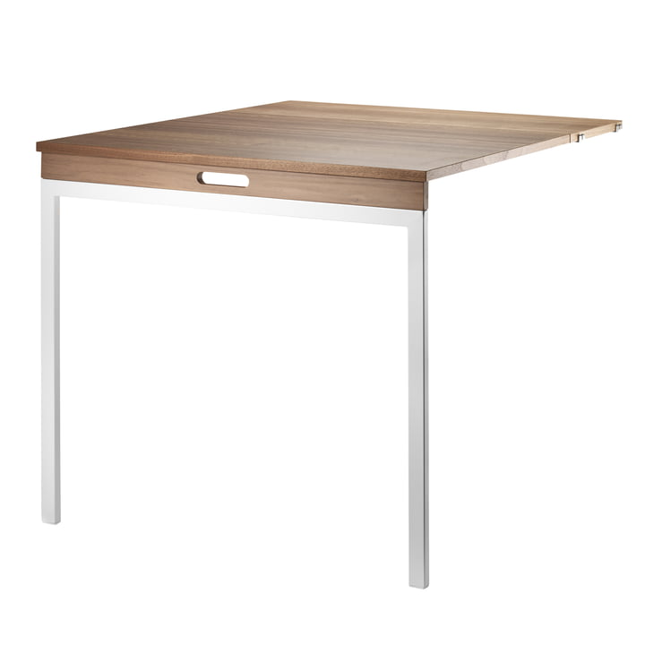 Folding Table by String in Walnut / White