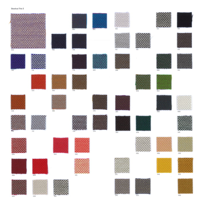 Kvadrat - Fabric sample card Steelcut Trio 3