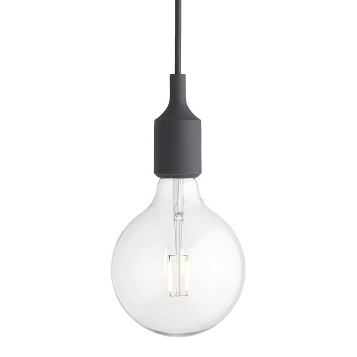 Muuto - E27-Socket Pendant Lamp LED, dark gray