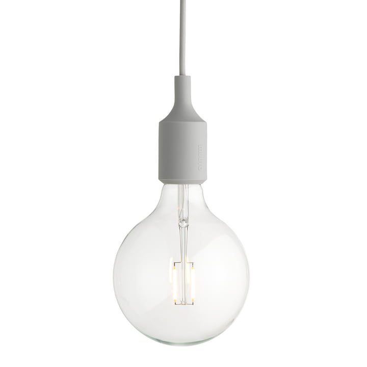 Muuto - E27-Socket Pendant Lamp LED, light gray
