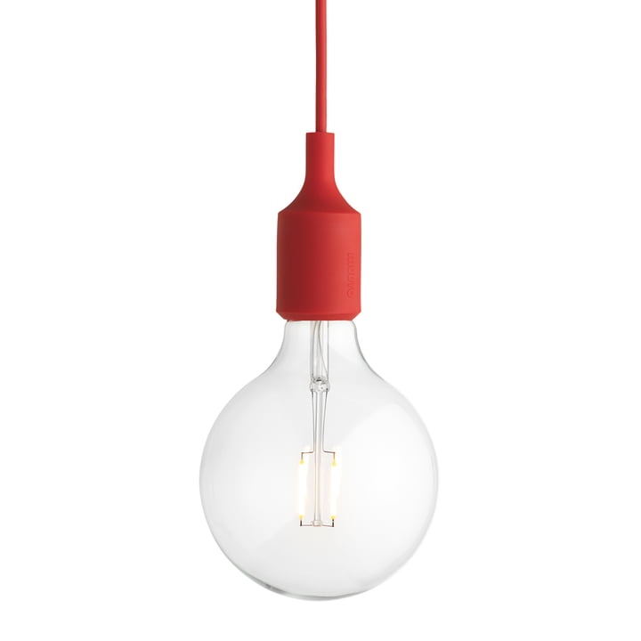 Muuto - E27-Socket Pendant Lamp LED, red