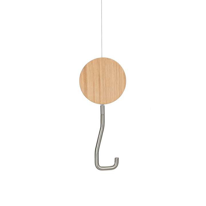Snap Coat Hooks by Schönbuch in White Oak Brushed Matt