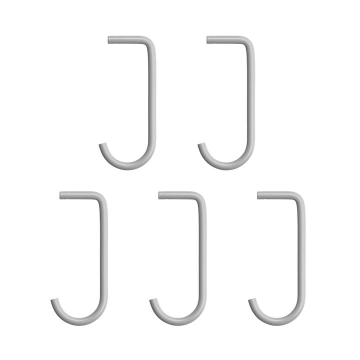 String - hook for metal bottom, grey (set of 5)
