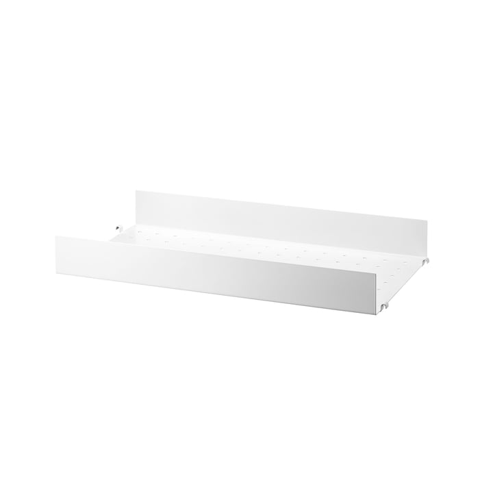 Metal Shelf High Edge, 58 x 30 cm by String in white