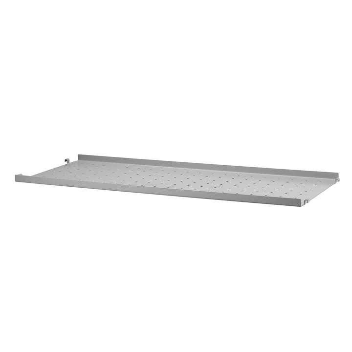 Metal Shelf Low Edge, 78 x 30 cm by String in Grey