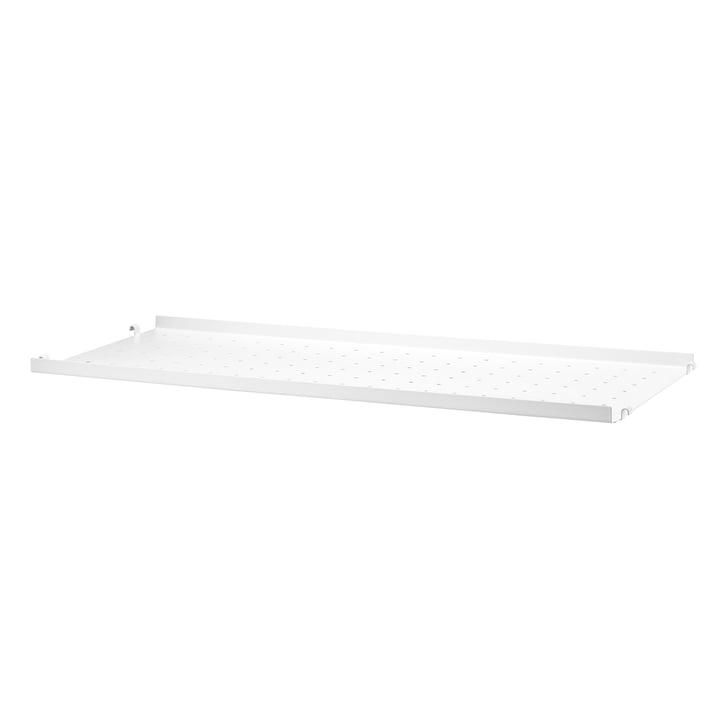 Metal Shelf Low Edge, 78 x 30 cm by String in white