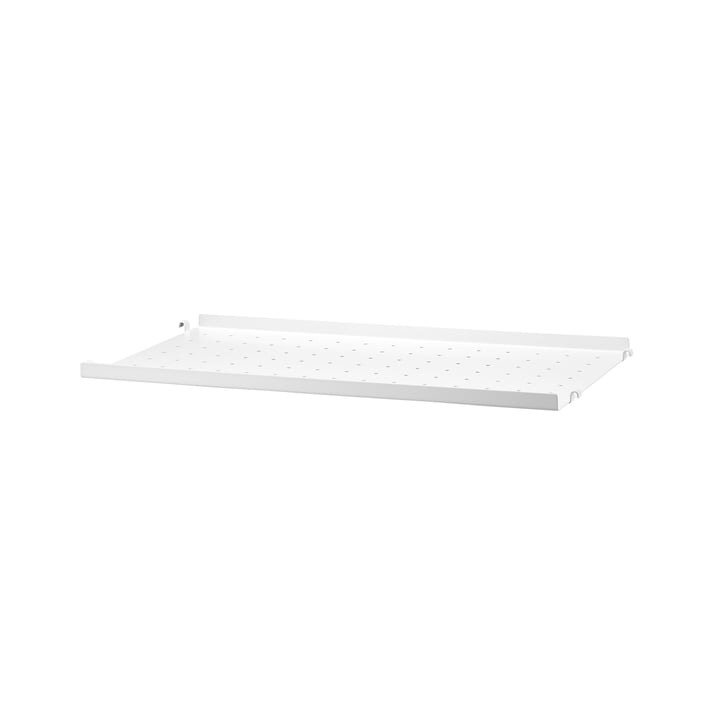 Metal Shelf Low Edge, 58 x 30 cm by String in White