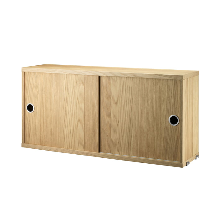 Cabinet Module with Sliding Doors 78 x 20 cm by String in Oak