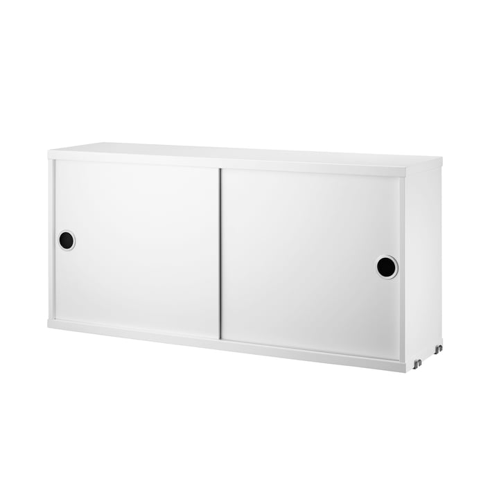 Cabinet Module with Sliding Doors 78 x 20 cm by String in White