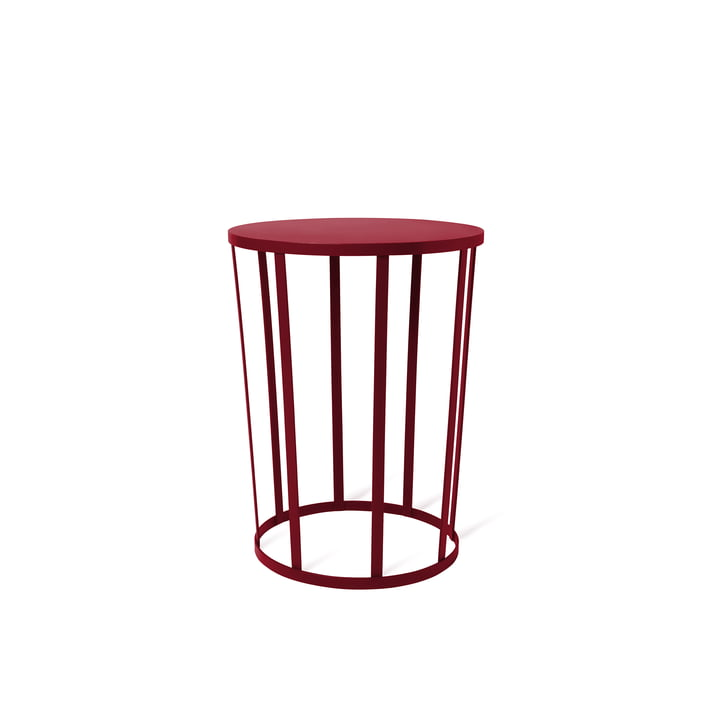 Hollo sidetable by Petite Friture in burgundy