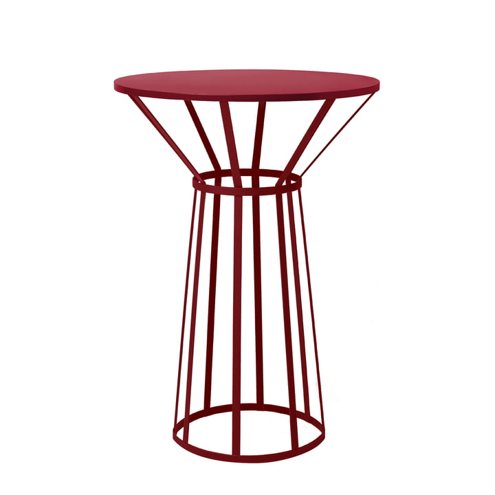 Hollo Bistro Table by Petite Friture in Burgundy
