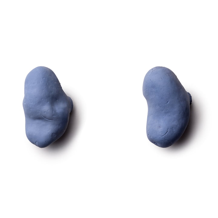 Tubercule wall hooks (set of 2) by Petite Friture in blue