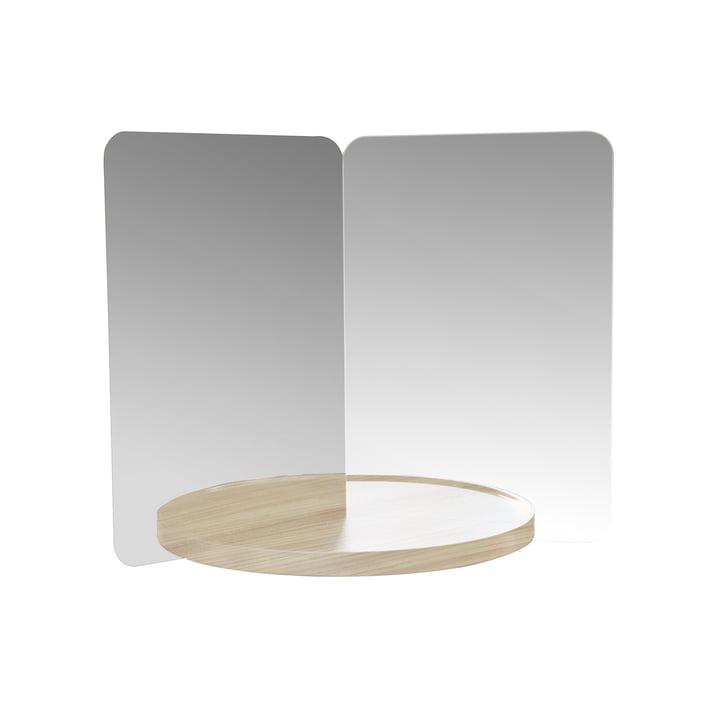124° mirror with shelf, medium by Artek in oak