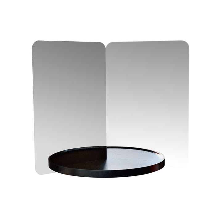 124° mirror with shelf, medium by Artek in black
