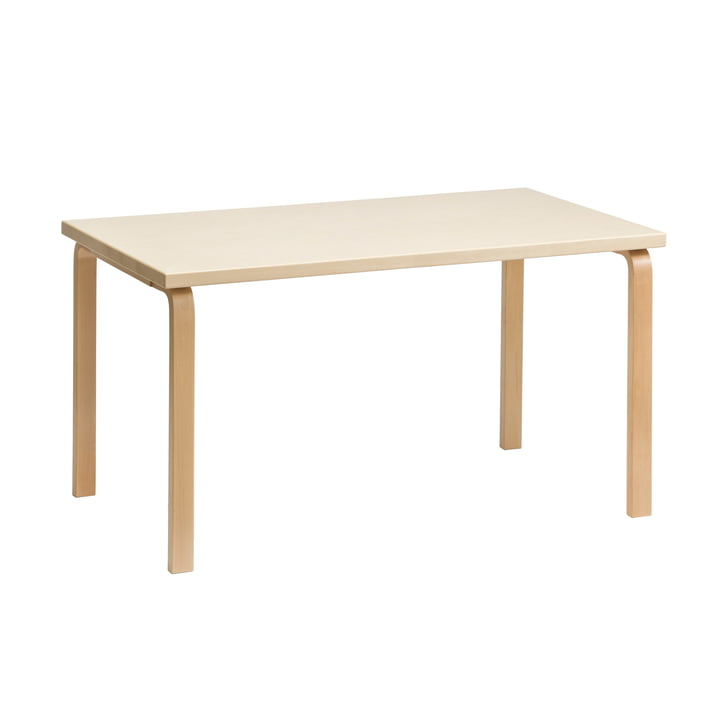 80B Table 10 x 20 cm by Artek in Birch