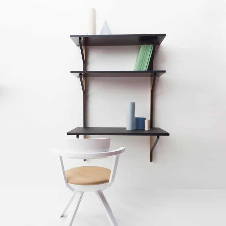 Kaari Wall Shelf with Desk by Artek