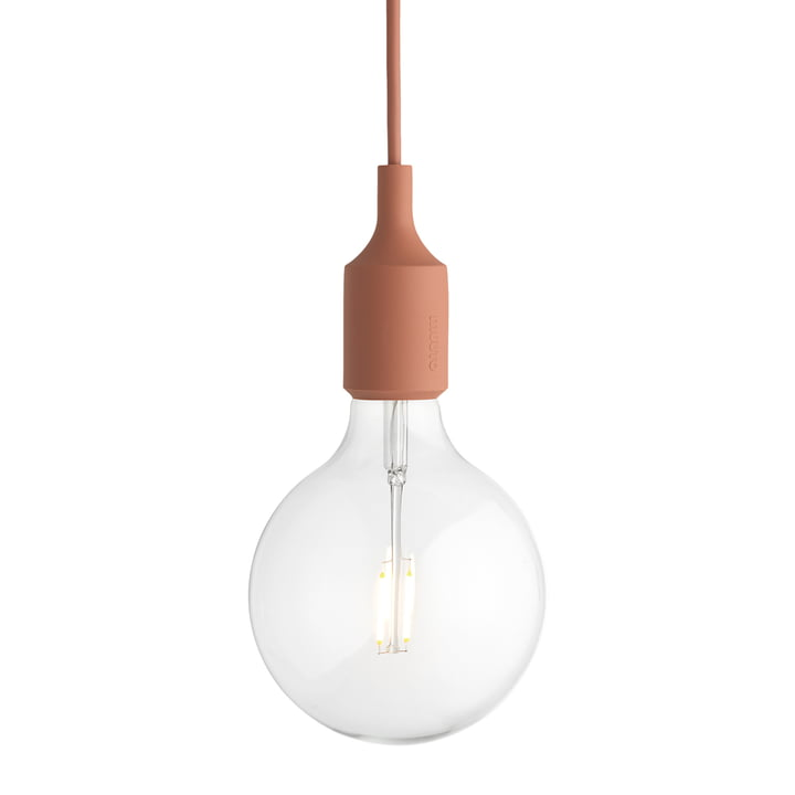 Muuto - E27-Socket Pendant Lamp LED, terracotta