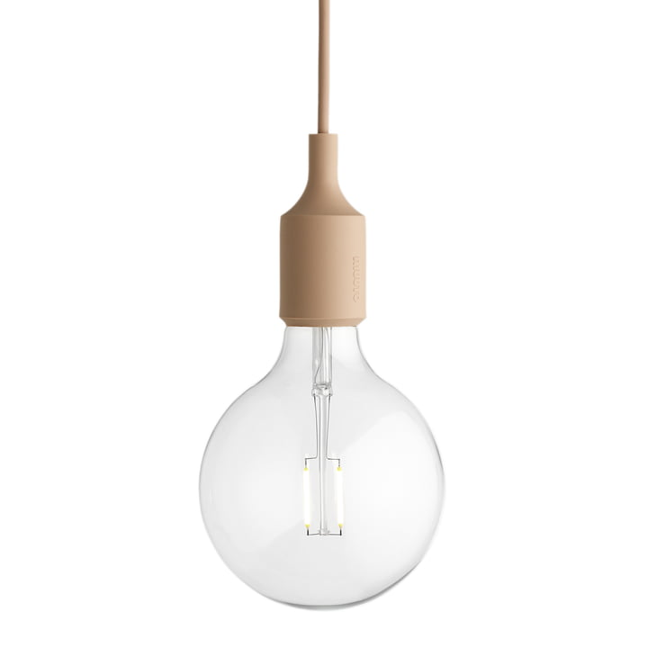 Muuto - E27-Socket Pendant Lamp LED, nude