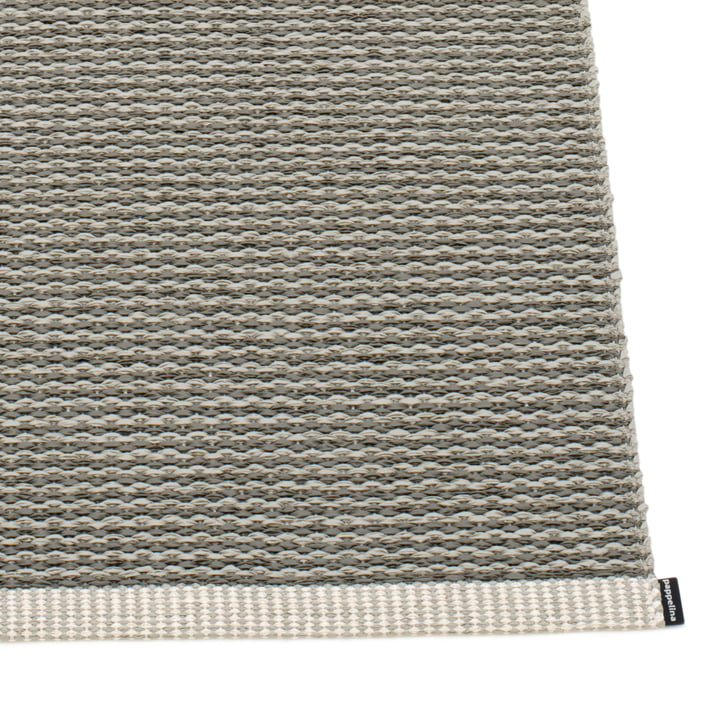 Mono Rug by Pappelina in Charcoal / Warm Grey