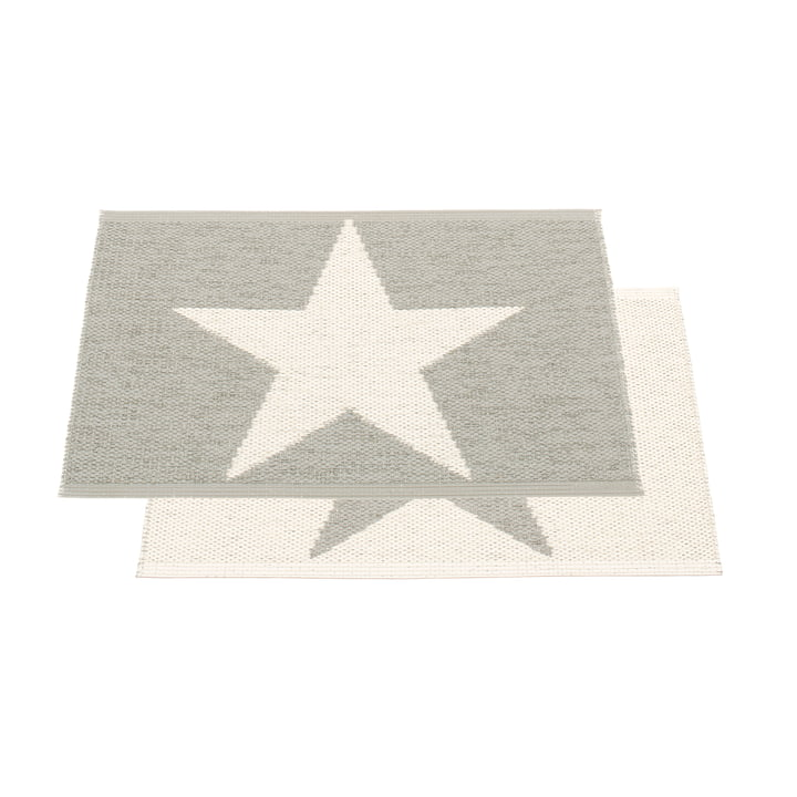 Viggo One Mat by Pappelina in Warm Grey / Vanilla