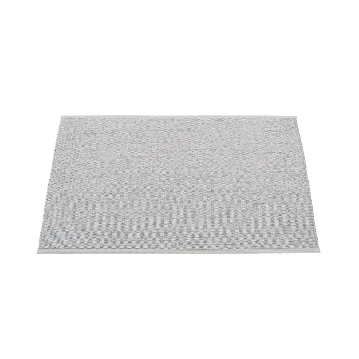 Pappelina - Svea Rug, black metallic / light grey