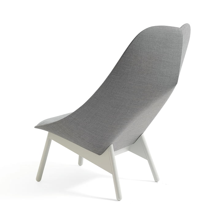 Uchiwa Armchair by Hay in Light Gray Stained Oak and Gray