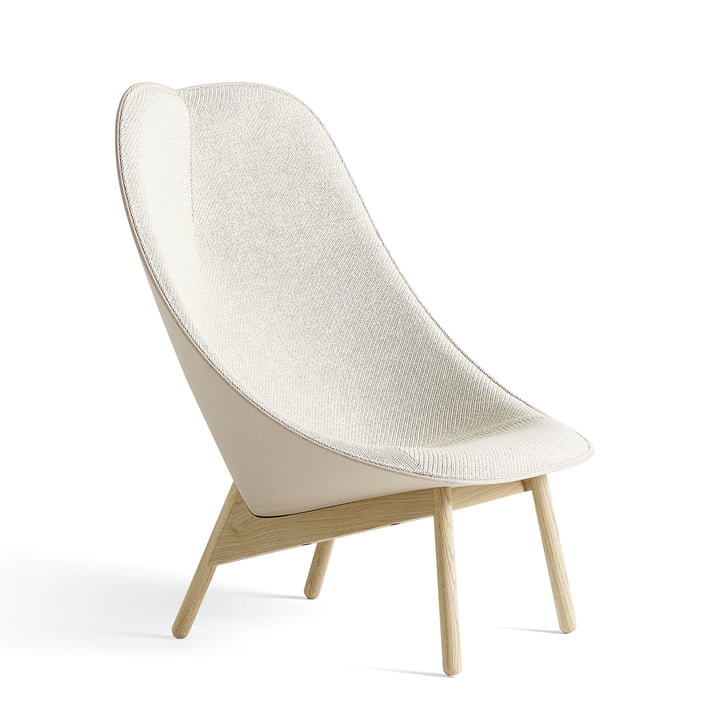 Uchiwa Armchair by Hay in Soaped Oak and Beige