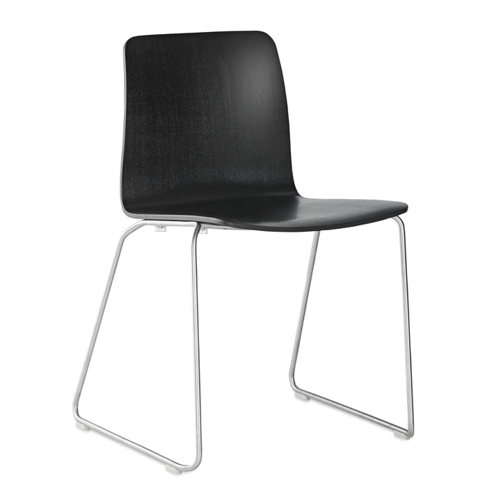 JW01 Chair by Hay in Black Stained Ash / Stainless Steel