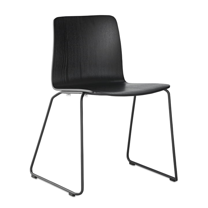 JW01 Chair by Hay in Black Stained Ash / Black Powder-Coated Steel