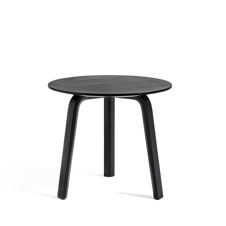 Bella Side table Ø 45 cm / H 39 cm from Hay in oak stained black