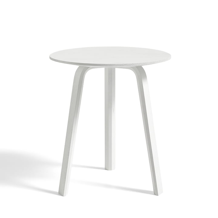Bella Side table of Hay in oak white stained Ø 45 cm / H 49 cm