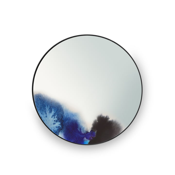 Small Francis Wall Mirror by Petite Friture in Blue