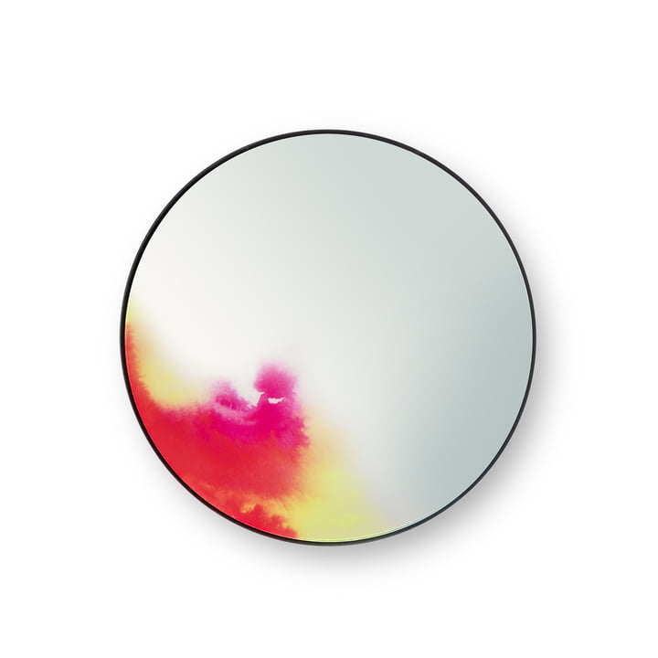Small Francis Wall Mirror by Petite Friture in Pink / Yellow