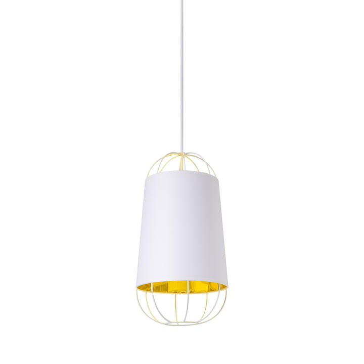 Lanterna pendant lamp, small by Petite Friture in white / gold