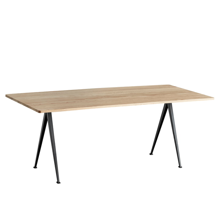 Hay - Pyramid Table by Hay in Black / Matt Lacquered Oak