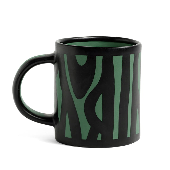Wood Cup by Hay in dark green