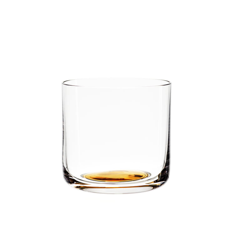 Colour Glass water glass low of Hay with golden point
