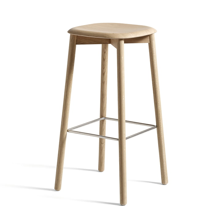 Soft Edge 32 High Stool by Hay in Matt Lacquered Oak