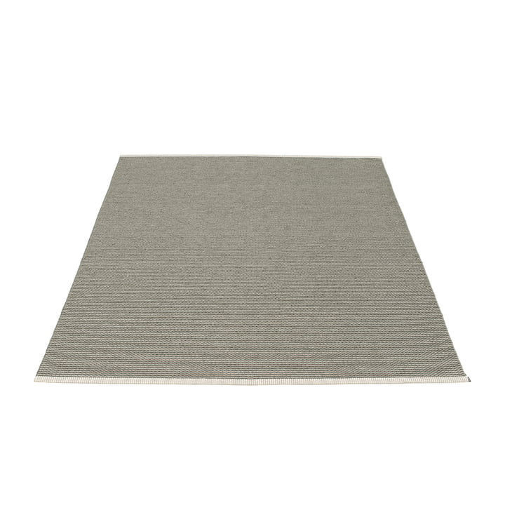 Mono Rug 140 x 200 cm by Pappelina in Charcoal / Warm Grey