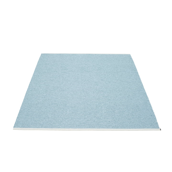 Mono Rug 140 x 200 cm by Pappelina in Misty Blue / Ice Blue