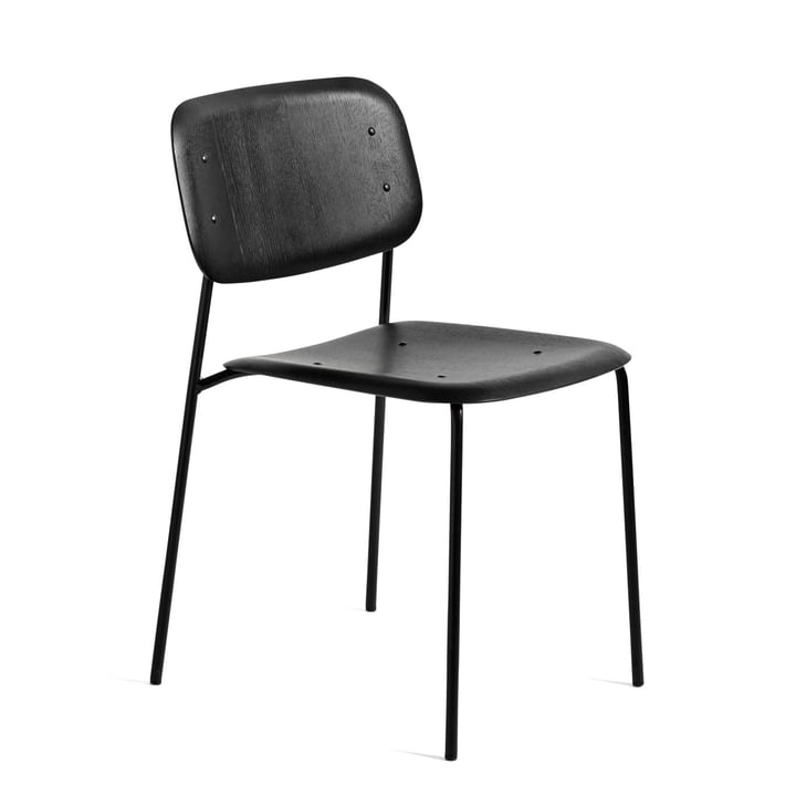 Soft Edge 10 Chair from Hay in black stained oak / black powder-coated steel