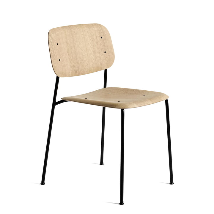 Soft Edge 10 Chair by Hay in Matt Lacquered Oak / Black Powder-Coated Steel