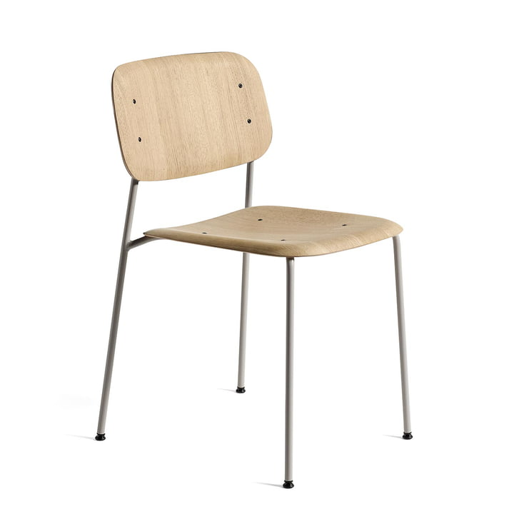 Soft Edge 10 Chair from Hay in oak matt lacquered / steel soft grey powder coated