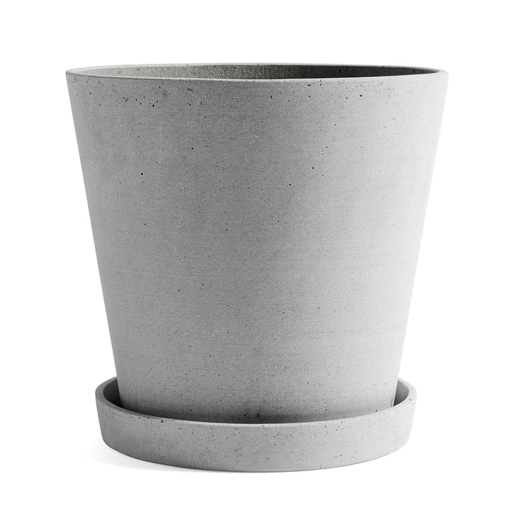 Flowerpot with saucer XXL from Hay in grey