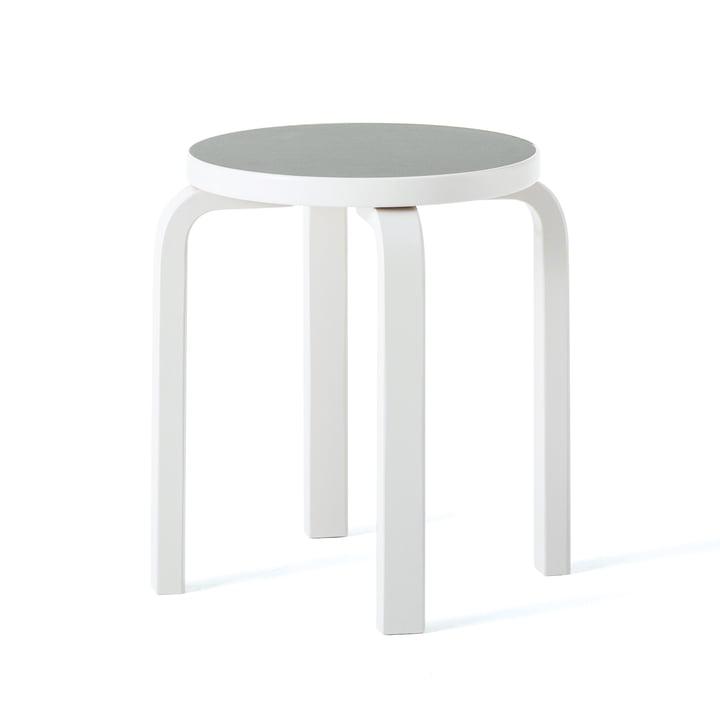 Stool E60 by Artek in Stone White / Light Grey